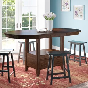 Read Reviews Ellicott Counter Height Extendable Dining Table By Three Posts