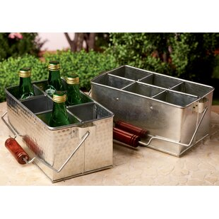Galvanized Metal Bottle Utensil Holder Set (Set of 2)