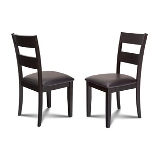 Charlestown Faux Leather Dining Side Chair (Set Of 2) by Alcott Hill 2019 Sale