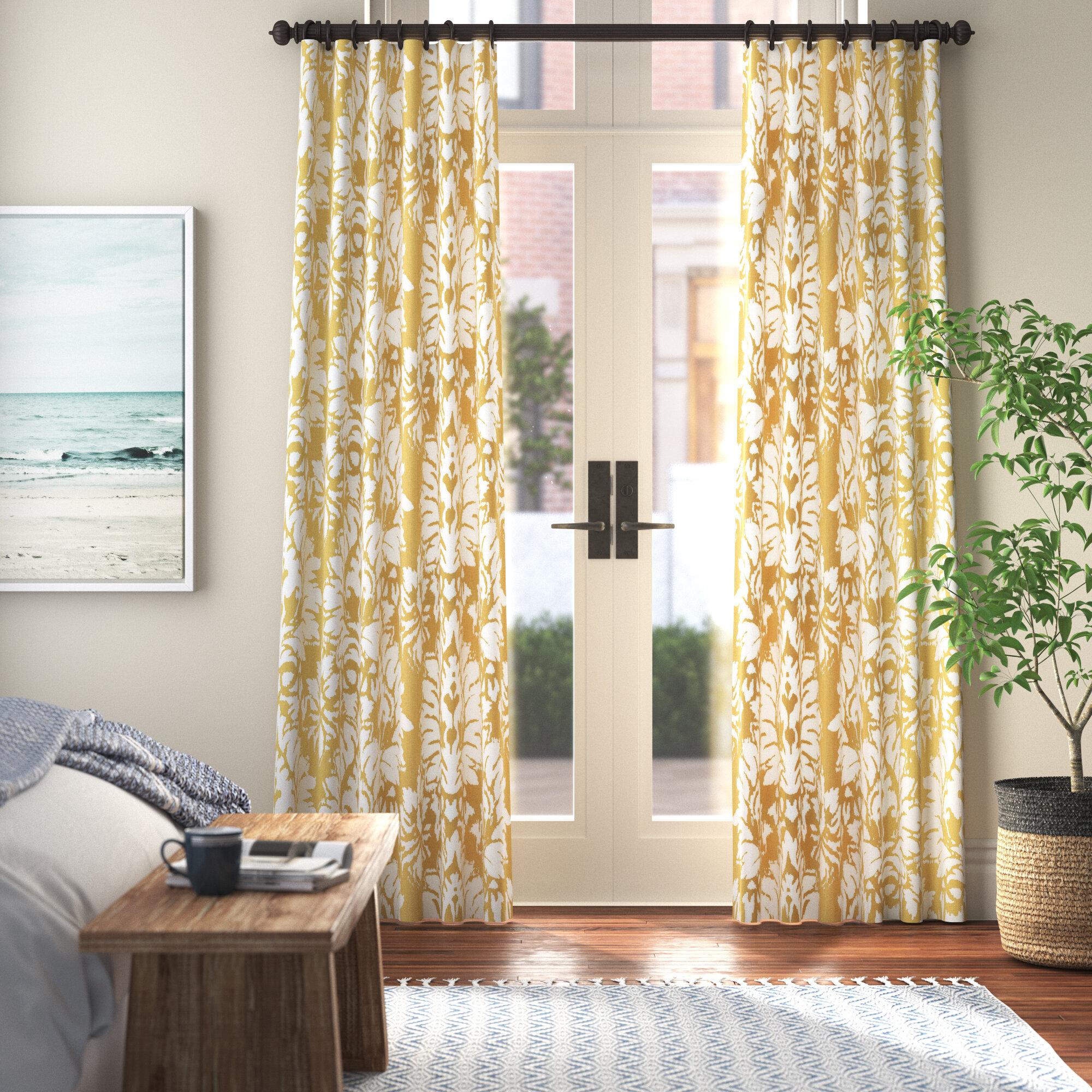 Callier 100 Cotton Floral Room Darkening Rod Pocket Single Curtain Panel Reviews Joss Main