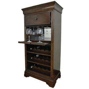 Silvia Bar Cabinet With 15 Bottle Wine Bar by Alcott Hill