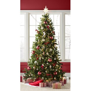 green spruce artificial christmas tree with clearwhite lights - Pop Up Christmas Tree With Lights And Decorations