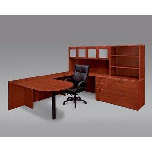 Fairplex 4-Piece U-Shape Desk Office Suite by Flexsteel Contract