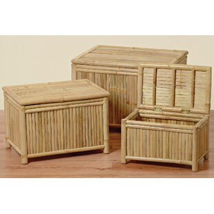 Bayou Breeze Hinson 3 Piece Bamboo Blanket Trunk Set