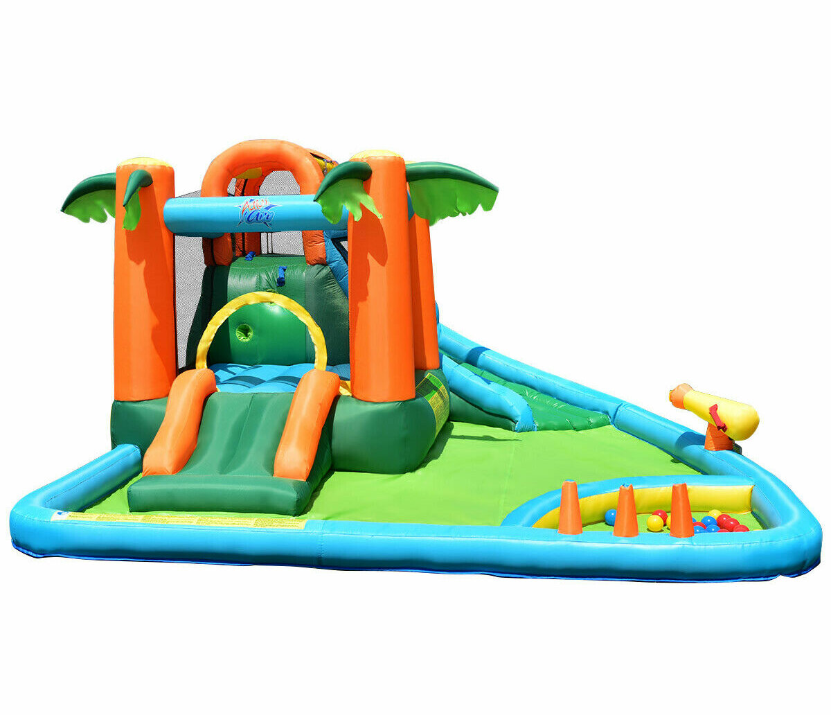 Picture of: Costway 12 3 X 14 1 Bounce House With Water Slide And Air Blower Reviews