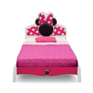 Disney Minnie Mouse Wood Twin Panel Bed
