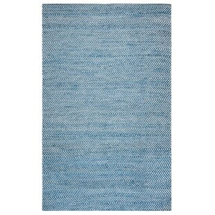 Jammie Hand-Loomed Blue Area Rug by Beachcrest Home