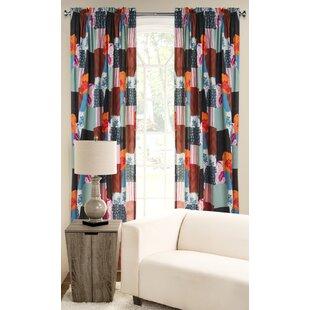 Boho Rod Pocket Single Curtain Panel