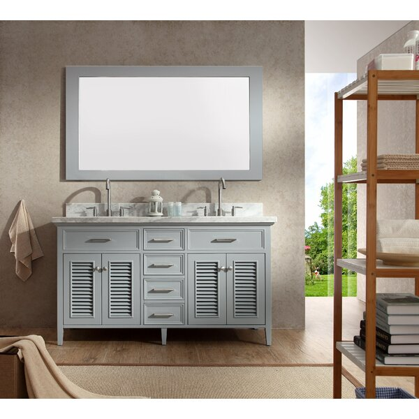 Highland Dunes Hamil 61 Double Bathroom Vanity Set With Mirror Reviews Wayfair