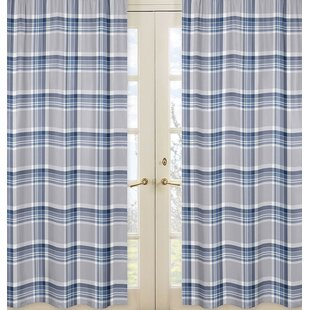 Plaid Curtain Panels Set Of 2