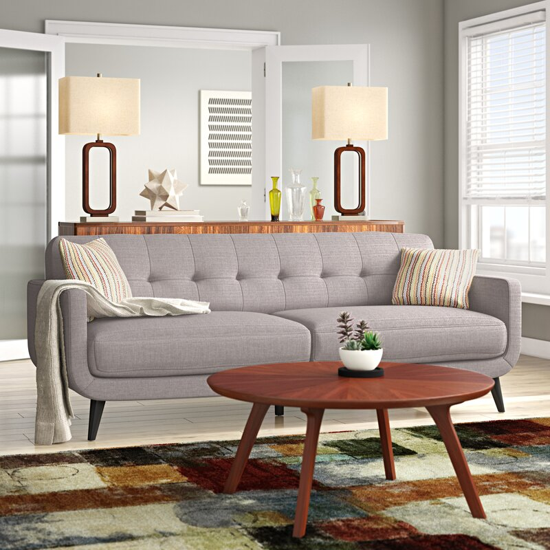 Ivy Bronx Tifton 86 Wide Square Arm Sofa Reviews Wayfair Ca
