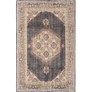 Alessi Hand-Knotted Brown Area Rug