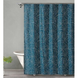 Dorrington Tropical Midnight Cotton Single Shower Curtain