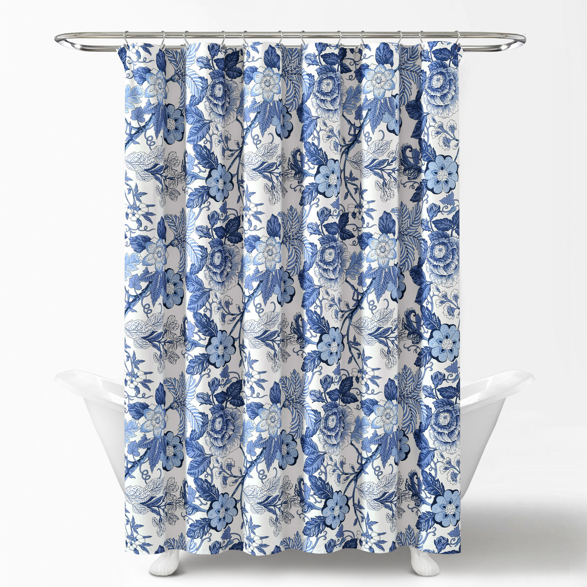Red Barrel Studio Dellaposta Floral Single Shower Curtain Reviews Wayfair