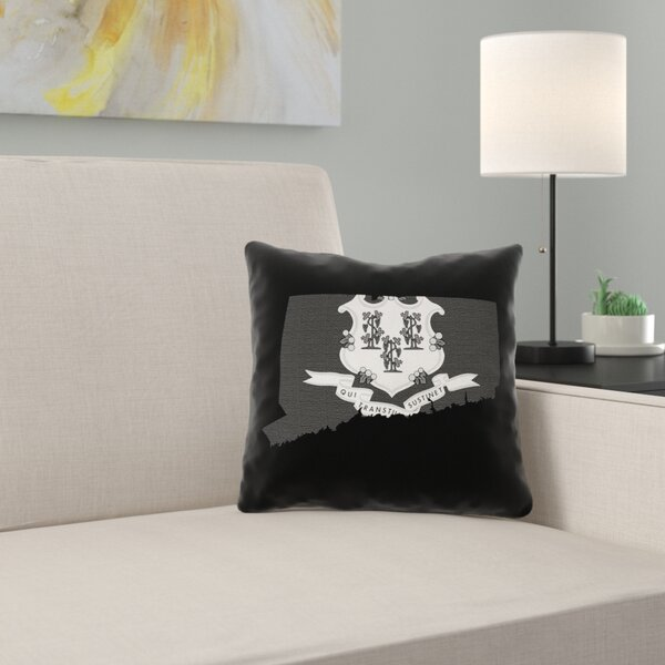 East Urban Home Brumit Connecticut Flag Pillow In Spun Polyester Double Sided Print Pillow Cover Wayfair