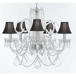 Rosdorf Park Creeves Glam 5-Light Shaded Chandelier