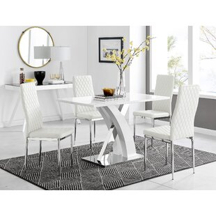 Condrey Dining Set with 4 Chairs