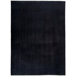 Read Reviews One-of-a-Kind Deweese Hand Knotted Wool Black Area Rug By Isabelline