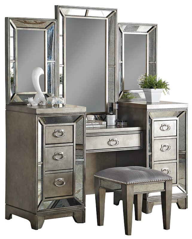 Willa Arlo Interiors Roxie Vanity With Mirror Reviews