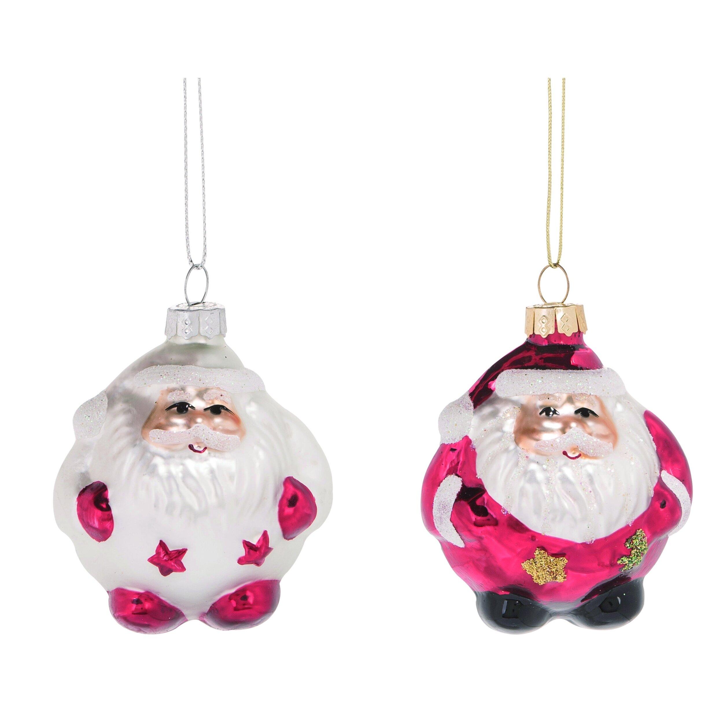 The Holiday Aisle 2 Piece Nostalgic Santa Hanging Figurine Ornament Set Wayfair