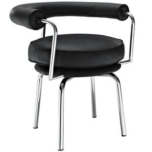 Modway Saloon Genuine Leather Upholstered Dining Chair