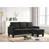 Jessica 77 Velvet Reversible Sofa & Chaise with Ottoman by Bolt Furniture