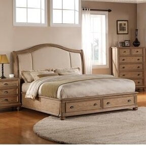 Margate Upholstered Storage Panel Bed