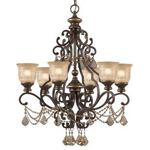Astoria Grand Tusten 6-Light Shaded Chandelier