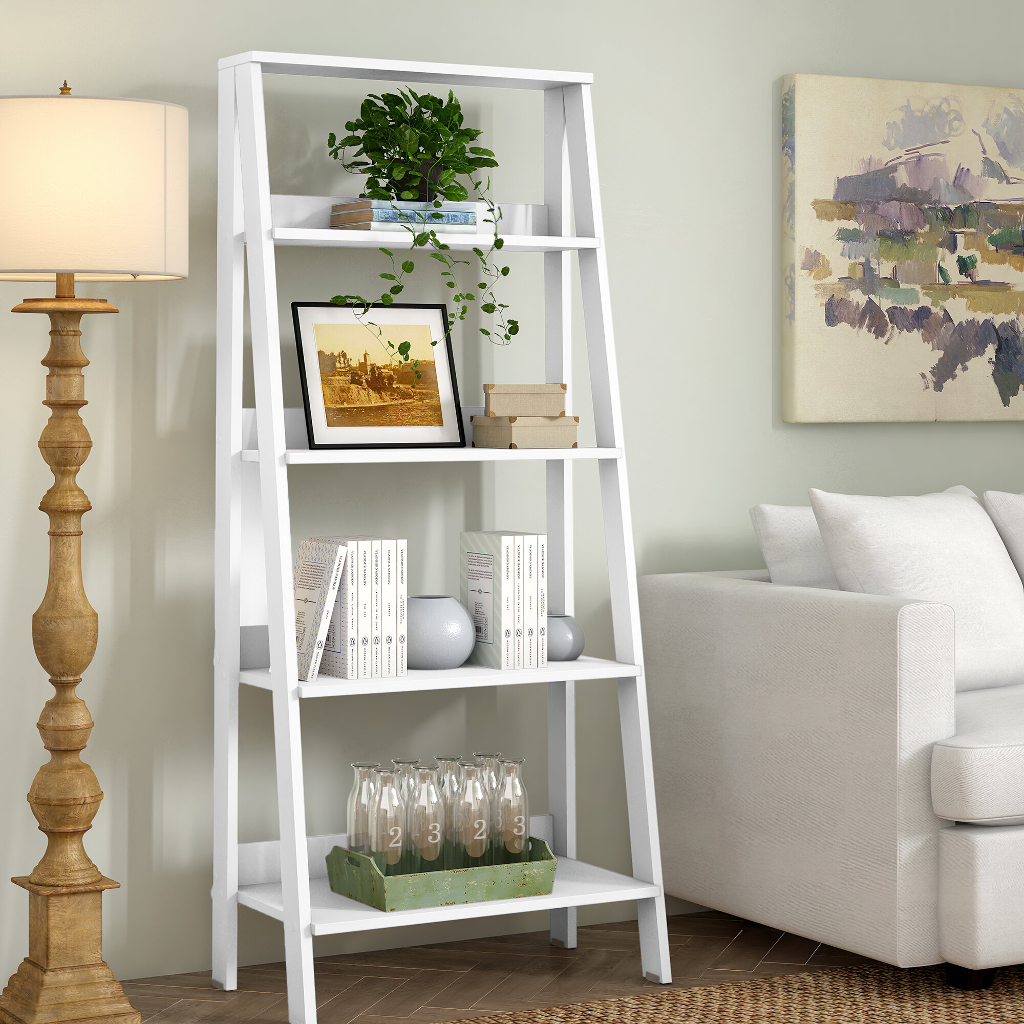 Langley Street Imogen 55 H X 24 W Ladder Bookcase Reviews Wayfair