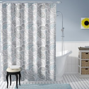 Aderyn Paisley 100% Cotton Single Shower Curtain