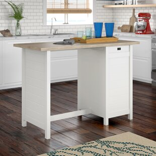 Hampton Kitchen Island With Lintel Oak Top