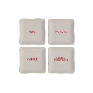 4 Piece Square Dolomite Plate Set