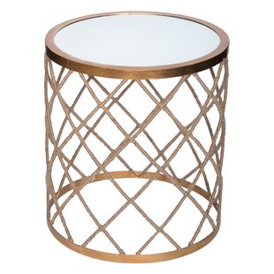 Halifax Rope Wrapped Mirrored End Table