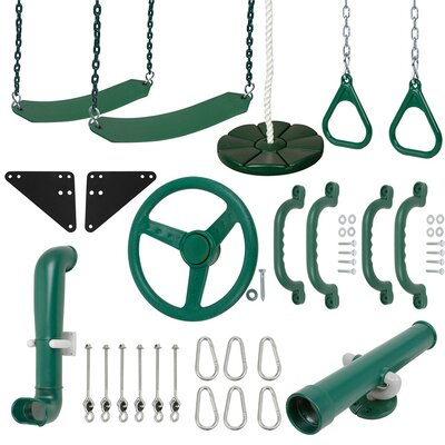 Ultimate Kit with Chain Swing Set Stuff Color: Green