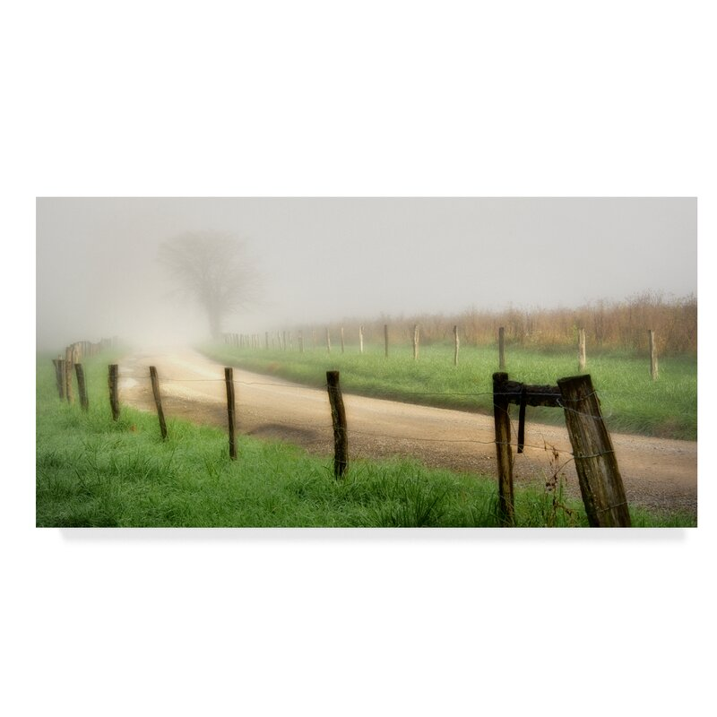 East Urban Home Around The Bend Dirt Road Photographic Print On Wrapped Canvas Wayfair