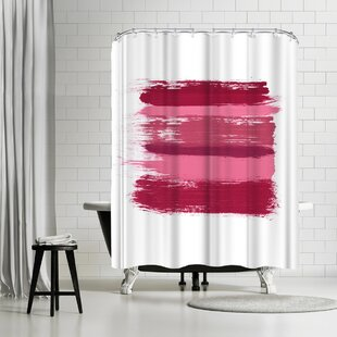 East Urban Home Amy Brinkman Wash Over Me Modern Pink Shower Curtain