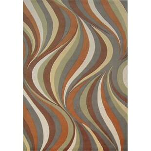 Geno Earthtone Waves Indoor/Outdoor Area Rug