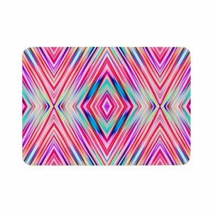 Dawid Roc Modern Tribal Ethnic Ikat Geometric Memory Foam Bath Rug