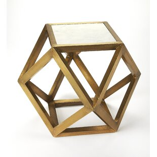 Adams Brass and Marble End Table