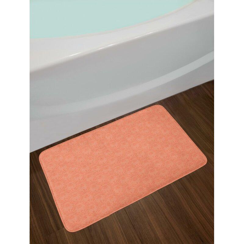 Flower Peach Bath Rug