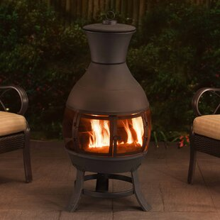 Sunjoy Clementine Steel Wood Burning Chim..