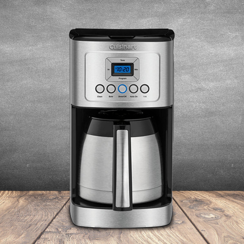 Cuisinart 12 Cup Perfectemp Programmable Coffeemaker Thermal Carafe Reviews Wayfair