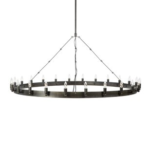 Brayden Studio Scanlon 20-Light Wagon Wheel Chandelier
