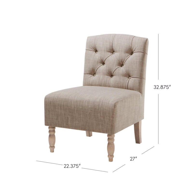 Genial Roland Tufted Slipper Chair