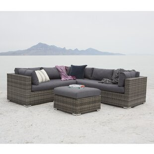 Verde 4 Piece Sectional Seating Group with Cushions