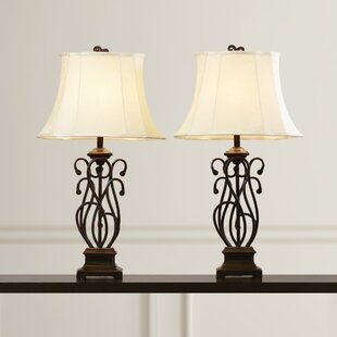 Bargain Susie Scroll 32.5 Table Lamp (Set of 2) By Fleur De Lis Living