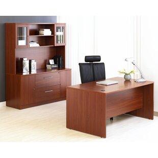 Latitude Run Buragate 4 Piece Desk Office Suite