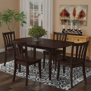 Pico 5 Piece Extendable Solid Wood Dining Set Alcott Hill