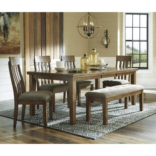 Fia 6 Piece Extendable Dining Set