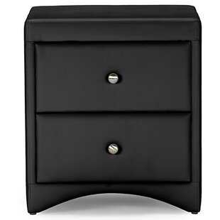 Ginder Upholstered 2 Drawer Nightstand by Orren Ellis